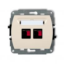 Karlik Trend beżowy - gniazdo głośnikowe x2 (2,5mm2) - 1GG-2 Karlik