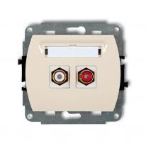 Karlik Trend beżowy - gniazdo 1xRCA (typu cinch) - 1GRCA-2 Karlik