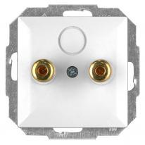 Abex Perła biały - gniazdo głośnikowe PT-2GP Abex