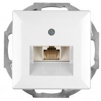 Abex Perła biały - gniazdo telefoniczno-komputerowe GTP-10P