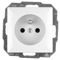 Abex Perła biały - gniazdo pojedyncze (+0) PT-16P Abex
