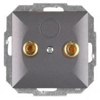Abex Perła antracyt - gniazdo głośnikowe PT-2GP Abex