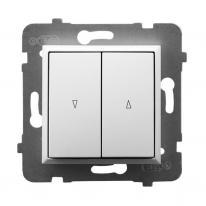 Ospel Aria biały - łącznik żaluzyjny stabilny ŁP-7UB/m/00 Ospel