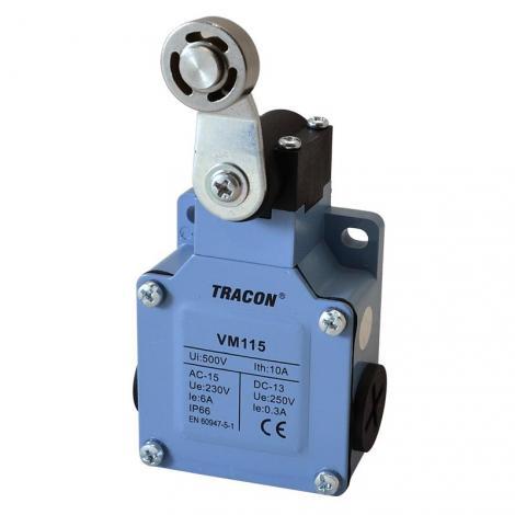 Łącznik krańcowy z dźwignią regulowaną i rolką VM115 Tracon Electric