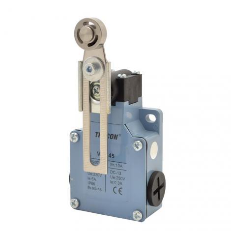 Łącznik krańcowy z dźwignią regulowaną i rolką VM145 Tracon Electric