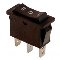 Wyłącznik kołyskowy trójpozycyjny I-0-II czarny TES-12 Tracon Electric