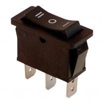 Wyłącznik kołyskowy włącz-wyłącz czarny TES-12 Tracon Electric