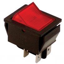 Wyłącznik kołyskowy włącz-wyłącz 2-polowy czerwony TES-41 Tracon Electric