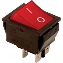 Wyłącznik kołyskowy włącz-wyłącz 2-polowy czerwony TES-42 Tracon Electric