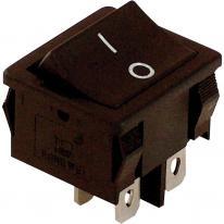Wyłącznik kołyskowy włącz-wyłącz 2-polowy czarny TES-51 Tracon Electric