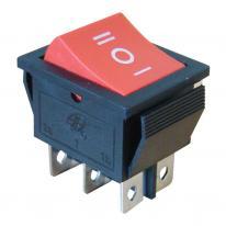 Wyłącznik kołyskowy trójpozycyjny I-0-II czerwony TES-52 Tracon Electric