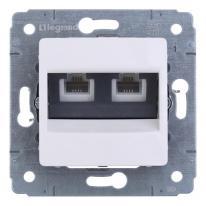 Legrand Cariva biały - gniazdo telefoniczne RJ 11 (x2) Legrand