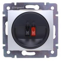 Legrand Valena aluminium - gniazdo głośnikowe pojedyncze Legrand