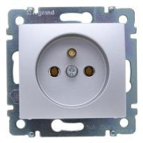 Legrand Valena aluminium - gniazdo pojedyncze (+0) Legrand