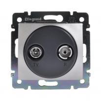 Legrand Valena aluminium - gniazdo TV-RD (końcowe) Legrand