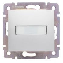 Legrand Valena aluminium - przycisk jednobiegunowy z etykietą (p) Legrand