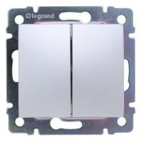 Legrand Valena aluminium - przycisk podwójny przełączny Legrand