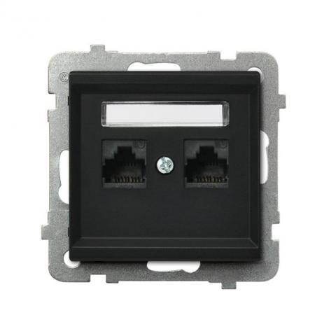 Ospel Sonata czarny - gniazdo komputerowe kat.5e GPK-2R/K/m/33 Ospel