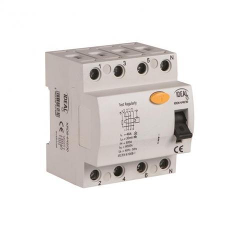 Wyłącznik różnicowoprądowy KRD6 4P 40A AC 30mA Kanlux Ideal Kanlux