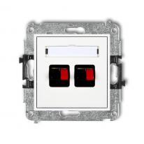 Karlik Mini biały - gniazdo głośnikowe x2 (2,5mm2) - MGG-2 Karlik