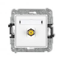 Karlik Mini biały - gniazdo 1xRCA (typu cinch) - MGRCA-1 Karlik