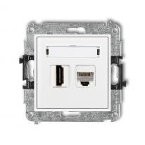 Karlik Mini biały - gniazdo HDMI + RJ45 - MGHK Karlik