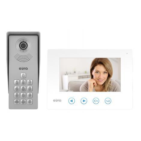 Wideodomofon jednorodzinny EURA VDP-12A3 biały Eura-tech