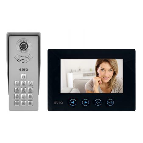Wideodomofon jednorodzinny EURA VDP-12A3 czarny Eura-tech