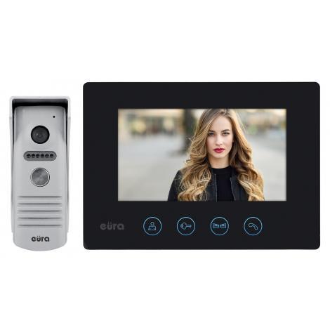 Wideodomofon jednorodzinny EURA VDP-40A3 czarny Eura-tech
