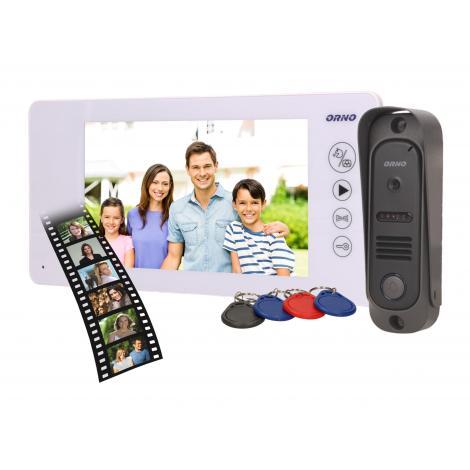 Wideodomofon jednorodzinny ARCUS RFID OR-VID-JS-1053/W Orno