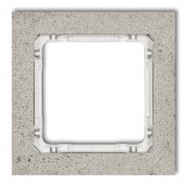 Hurtownia elektryczna Karlik Deco jasnoszary/biały - ramka beton 1-krotna - 27-0-DRB-1