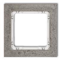 Hurtownia elektryczna Karlik Deco ciemnoszary/biały - ramka beton 1-krotna - 28-0-DRB-1