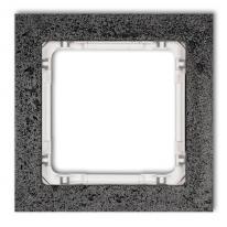 Karlik Deco antracyt/biały - ramka beton 1-krotna - 11-0-DRB-1 Karlik