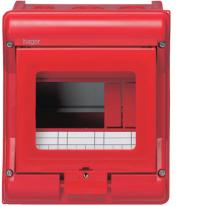 Rozdzielnica natynkowa Vector VE105A 1x5 czerwona Hager