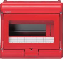 Rozdzielnica natynkowa Vector VE109A 1x9 czerwona Hager