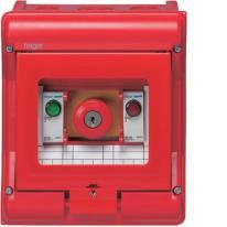 Obudowa czerwona z wyłącznikiem bezpieczeństwa Vector VE105U Hager