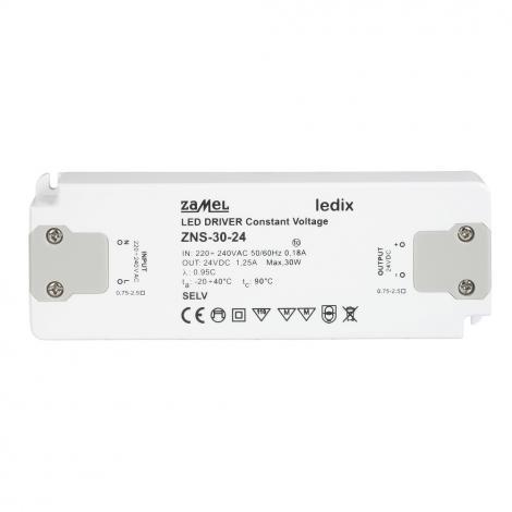 Zasilacz LED slim 30W 24V DC - ZNS-30-24 Zamel
