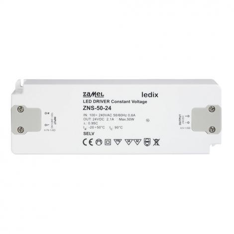 Zasilacz LED slim 50W 24V DC - ZNS-50-24 Zamel
