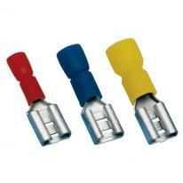 Izolowana nasuwka konektorowa miedź 6,3x0,8mm, 2,5mm (100 szt) Tracon Electric