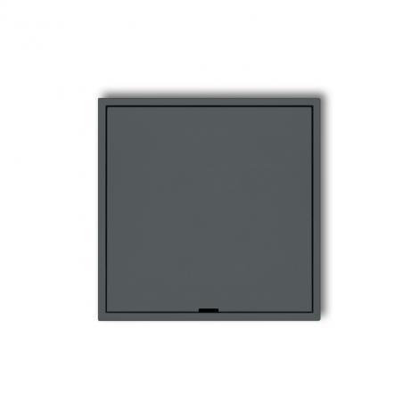 Karlik Mini grafitowy mat - ramka pośrednia z zaślepką Karlik