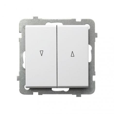 Ospel Sonata biały - łącznik żaluzyjny stabilny ŁP-7RB/m/00 Ospel