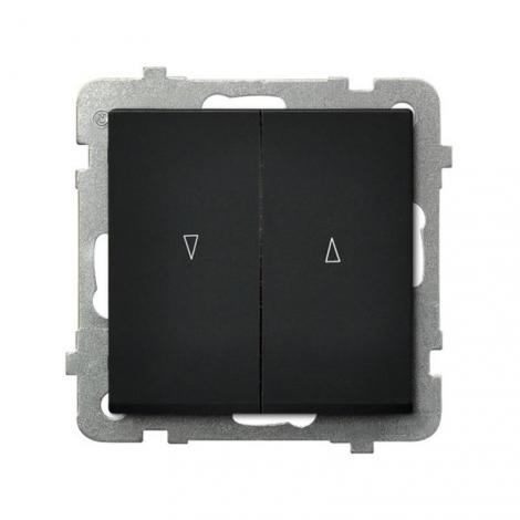 Ospel Sonata czarny - łącznik żaluzyjny stabilny ŁP-7RB/m/33 Ospel