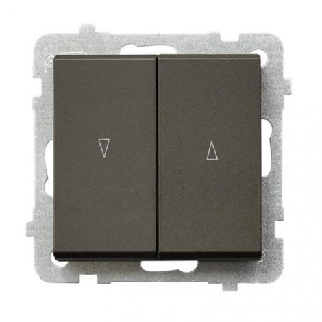 Ospel Sonata czekoladowy - łącznik żaluzyjny stabilny ŁP-7RB/m/40 Ospel