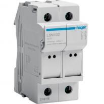 Modułowa podstawa bezpiecznikowa 2P 25A 500V LSN402 8.5x32 Hager