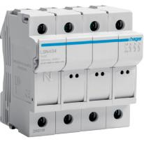 Modułowa podstawa bezpiecznikowa 3P+N 25A 500V LSN404 8.5x32 Hager