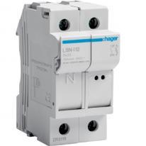 Modułowa podstawa bezpiecznikowa 1P+N 25A 500V LSN412 8.5x32 Hager
