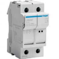Modułowa podstawa bezpiecznikowa 1P+N 32A 690V LSN512 10x38mm Hager