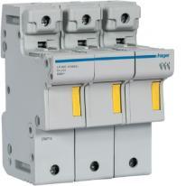 Modułowa podstawa bezpiecznikowa 3P 50A 500V LR603 14x51mm Hager