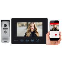 Wideodomofon jednorodzinny EURA FENIKS VDP-40A3 czarny WiFi Eura-Tech