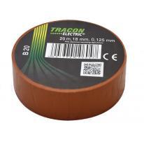 Taśma izolacyjna 20mx18mm brąz Tracon Electric